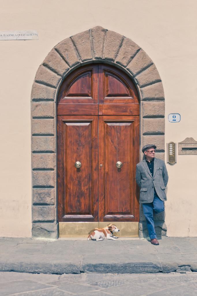 Italian man and dog