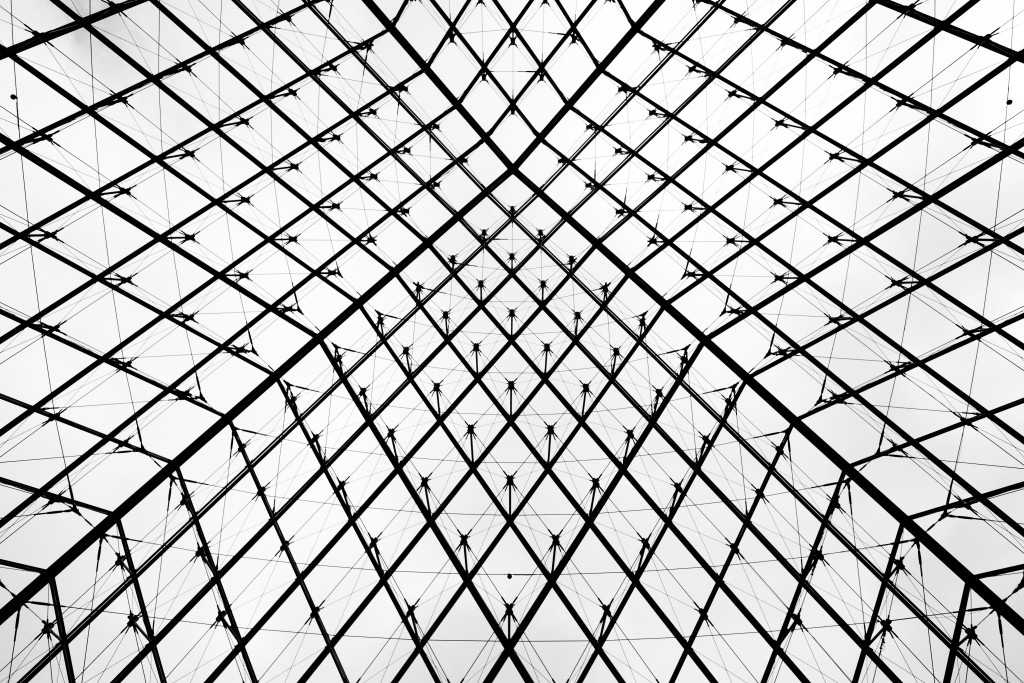 Louvre looking up